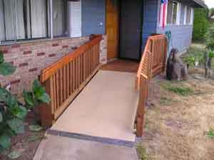 Finished wheelchair ramp