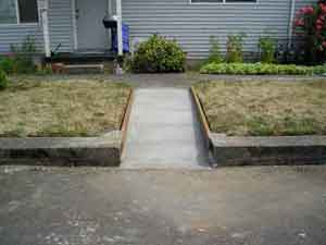 Concrete ramp